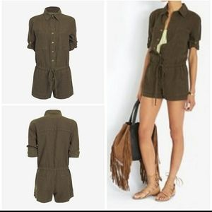 Enza Costa for Intermix Military Romper
